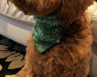Green Tweed Bestie's Bandana