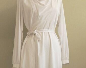 1960's Vintage Jonathan Logan /Tunic Dress/White /Size 13/14