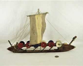 Viking Ship - Industrial Steampunk - Vintage loom shuttle