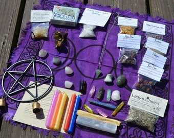 Mystery Witch Box - Wiccan Suprise Box - Altar Tools - Incense- Smudge Sticks- Crystals - Candles - Herbs