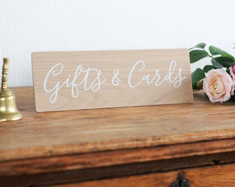 Gifts and Cards Wooden Sign, Wedding Sign, Rustic Decor. Boho Wedding. Reception Decor