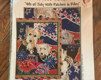 Vintage Dog Gone Quilts 4th of July With Patches and Riley Pattern