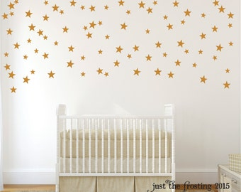 Confetti Star Decals Set of 140 - Confetti Star Pattern Decals - Gold Decals- Star Vinyl Decal - Wall Pattern Decal - Star Wall Art