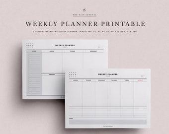 Weekly Planner Printable - Undated Weekly Planner, Weekly Agenda, Weekly Organizer, Weekly Planner Pages, Weekly Planner Insert, A5 Weekly