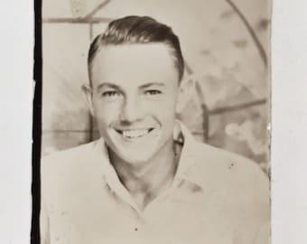 Original Vintage Photobooth Photograph | Joey