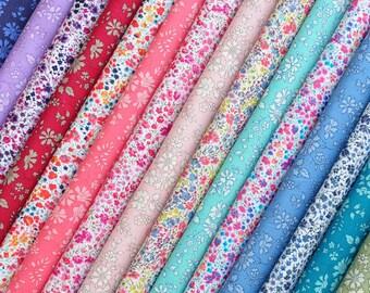 "15 LIBERTY Fabric Tana Lawn 5"" x 5"" Patchwork Charm pieces, scraps 'Liberty Phoebe,Liberty Capel', Liberty Fabric Bundles"