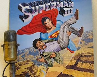 "Superman 3 Vinyl Record Album LP 1980s Superman Superhero Action Adventure Light Comedy Movie Soundtrack ""Superman III"" (1983 WB)"