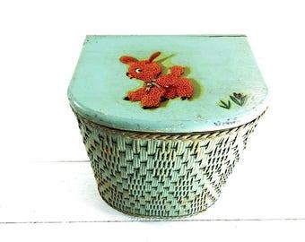 Vintage Harvey Mini Wicker Laundry Basket