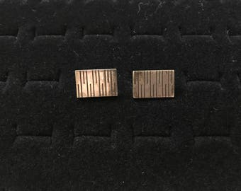 Vintage sterling cuff links