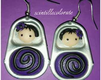 Handmade Matryoshka Earrings
