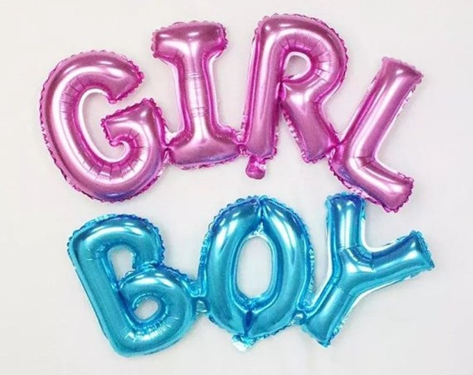 It's a Girl Balloon, It's a Girl Banner,  Girl Pink Balloon, Girl  Balloon Banner, Baby Shower Balloons, Gender Reveal Balloons