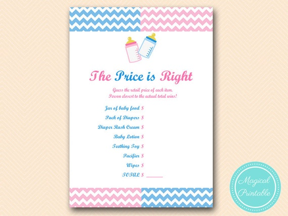 Hilaire image regarding printable gender reveal games