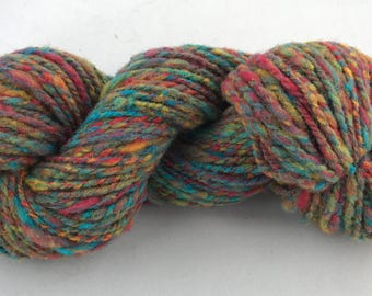 Varigated handspun hand dyed wool yarn