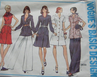 Vogue Womens Basic Design Dress Pants Pattern 2839