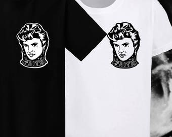 George Michael Faith Illustration - Unisex Tshirts Black, White, Grey