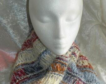 Angel soft hand knit mobius collar