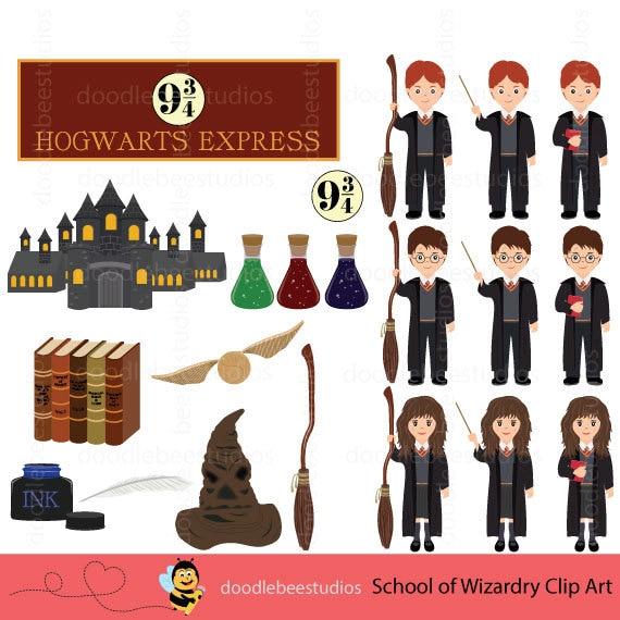 school of wizardry clipart harry potter clipart hogwarts rh etsy com harry potter clip art free harry potter clip art png