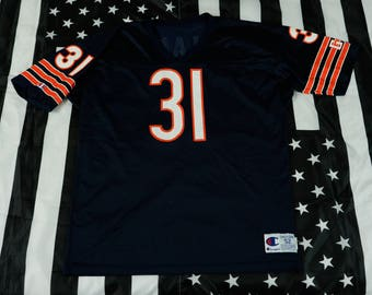 Vintage 90s Champion Rashaan Salaam #31 Chicago Bears Jersey Size 52 (XL) NFL Running Back Heisman Trophy