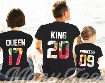 King queen prince princess shirts shirts father mother daughter son shirts king and queen shirts family shirts matching family shirts family