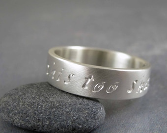 This too shall pass ring, sterling silver resilience ring, encouragement jewelry, motivational jewelry, divorce, survivor, recovery ring