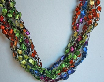 On Sale! Confetti  - Crocheted Necklace