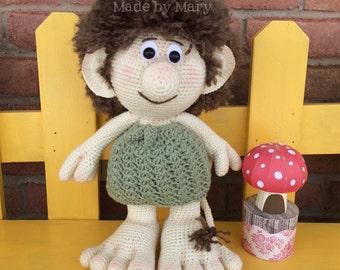 PDF Pattern: Terrick the Troll **Crochet Pattern Only, Not Actual Doll** Crochet Troll