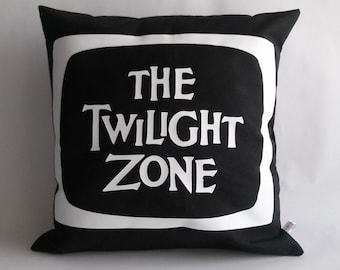 The Twilight Zone serie tv pillow cover, 60s throw pillow cover, retro pillow cover,  16x16 inches 40x40 cm