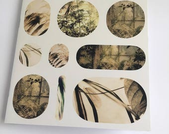 Botanical collage notebook