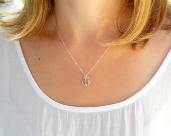 SALE Silver anchor necklace small anchor necklace tiny anchor hope necklace nautical jewelry nautical necklace sterling silver necklace 285