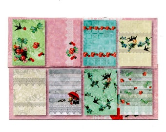 138 - Set of 8 papers for your cards or cake