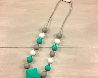 Fidget Necklace, Boy Fidget Necklace, Silicone Necklace, Chewelry, Silicone Beads, Chew Beads, Boy Necklace, sensory necklace, Ages 3+