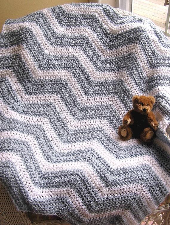 Häkeln Chevron Zick Zack Baby Decke afghanischen Wrap Schal
