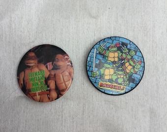 Vintage 1990s Teenage Mutant Hero Turtles Movie Memorabilia Pin Badges