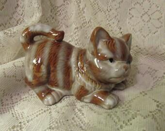 Vintage Tabby Cat Figurine