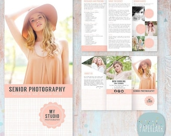 ON SALE Senior Photography Guide - Trifold Flyer -  DL Size Sell Sheet - Pg006 - Instant Download