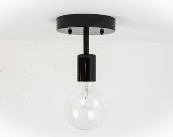 Modern Ceiling Light - Black Modern Light - Ceiling Lamp - Industrial Ceiling Lamp - Modern Home Lighting - Black Lighting - Simple Ceiling