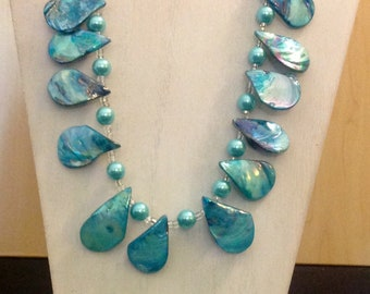Turquoise Set. Necklace and earrings