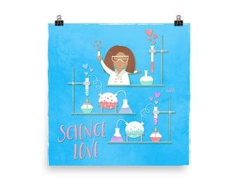 NAHLI Science Love Blue Posters