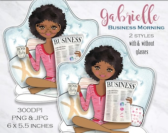 Boss ladyclipart Girl boss doll clipart glam clipart fashion graphics planner graphics African American clipart dashboard PrintableHenry