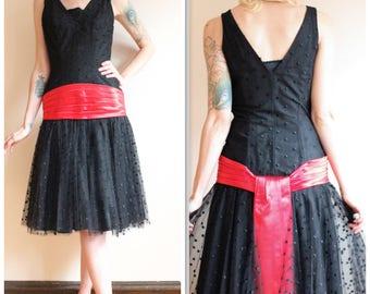 1950s Dress // Emma Domb Party Dress // vintage 50s dress
