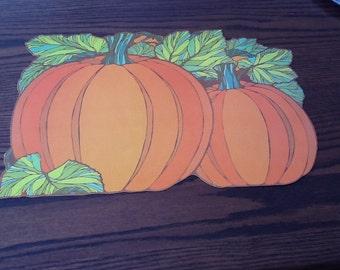 Vintage Die Cut Pumpkins