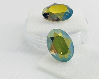 Swarovski 4120 18/13 Crystal Iridescent Green