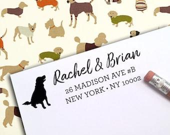 CUSTOM ADDRESS STAMP, Eco Friendly Self-Inking Stamp, Return Address Stamp, Custom Stamp, Housewarming Gift for Dog Lover, Pet Owner dog 5