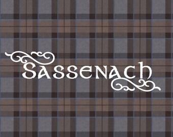 Sassenach car decal, Outlander, Claire Fraser, Claire and Jamie, Sassenach window car decal, Outlander vinyl decal, Diana Gabaldon