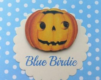 Halloween pumpkin brooch jack o lantern jewelry pumpkin jewelry pumpkin jewellery Halloween jewelry Halloween jewellery pumpkin gifts