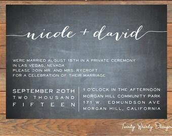 Elope invitation Etsy