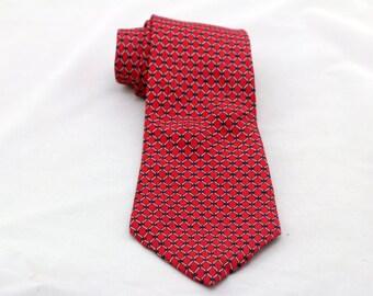 Vintage Men's Red Wide  Silk Tie/ Retro Fat Silk Necktie