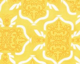 Free Spirit Fabric, Morning Tides by Mark Cesarik for Free Spirit Fabrics, MC12 Tribal in Yellow