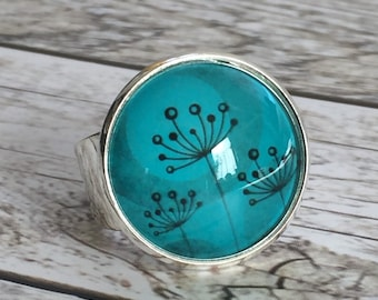 "Ring ""Flower Turquoise"""