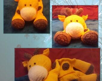 Hand knitted Giraffe Pyjama Case